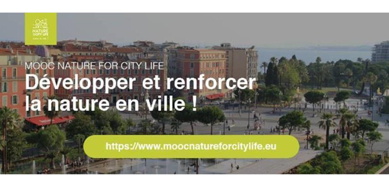 MOOC Nature for City LIFE sur la nature en ville et l'adaptation au changement climatique.