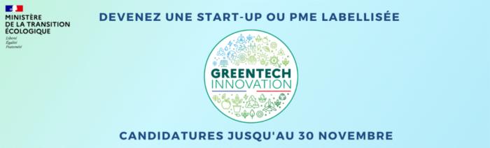 [Veille] Lancement de l'Appel à Manifestation GreenTech Innovation 2020