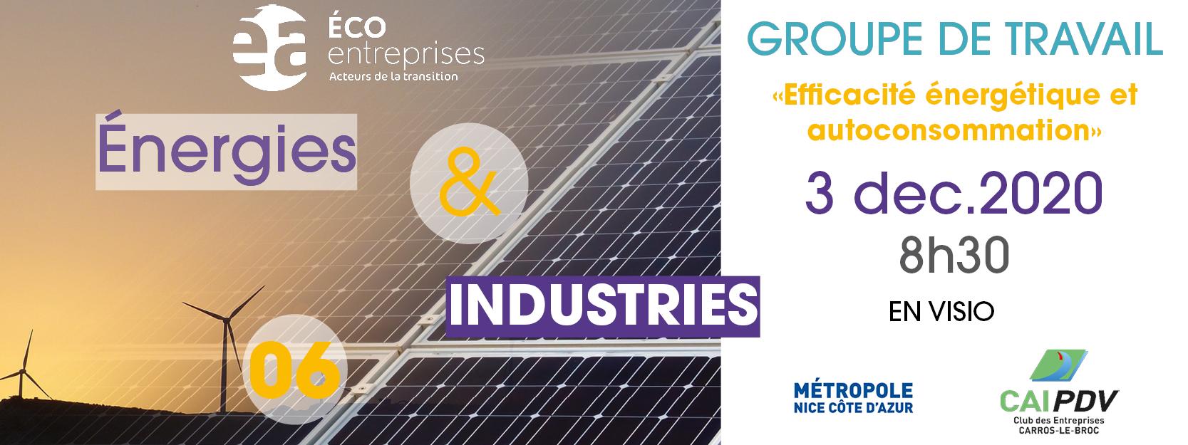 GT Énergie & Industries: «Efficacité énergétique et autoconsommation »