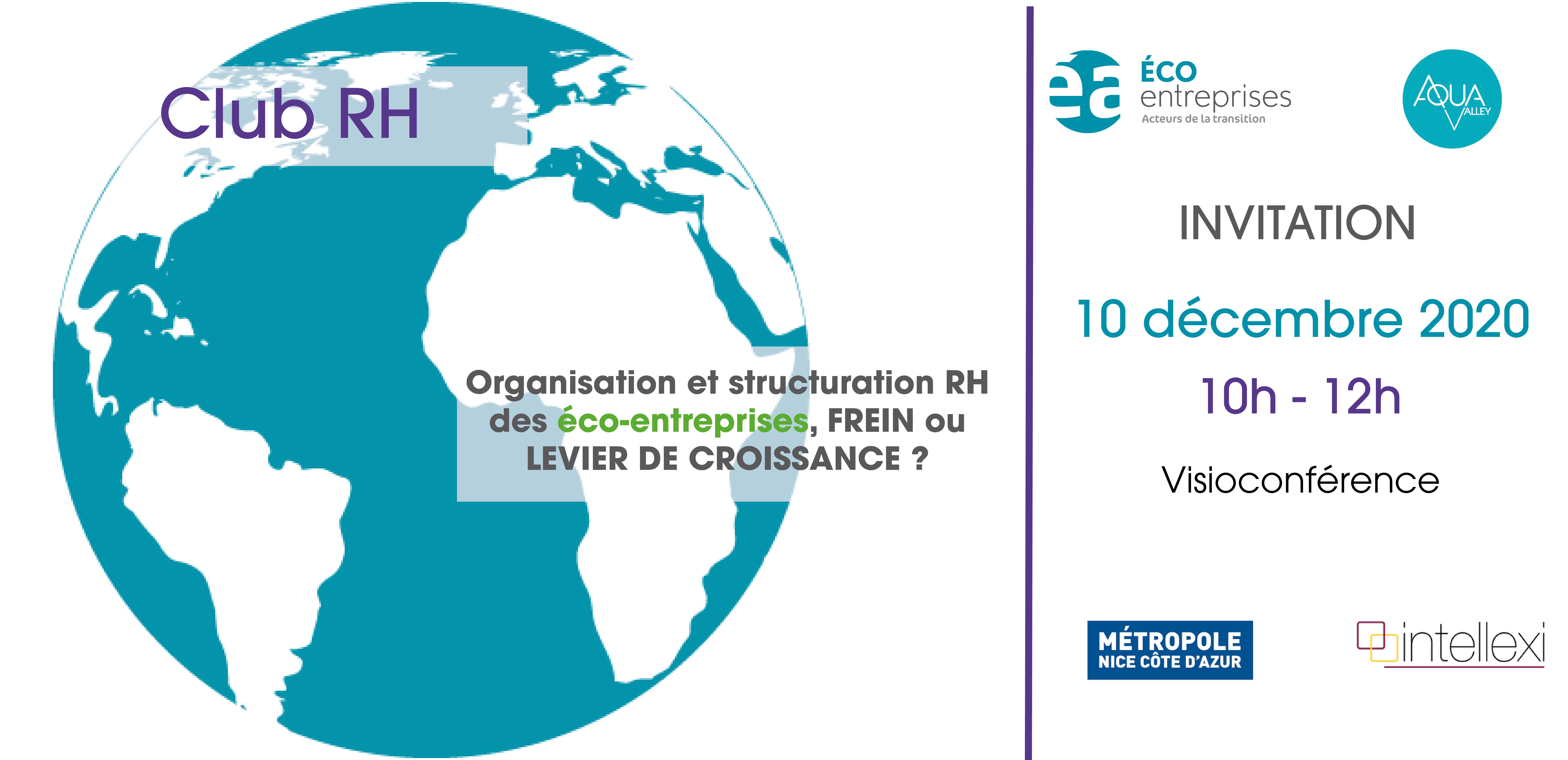 [CLUB RH] : Organisation et structuration RH des éco-entreprises, FREIN OU LEVIER DE CROISSANCE ?